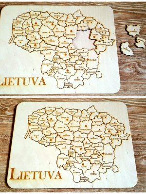 Medinė dėlionė – Lietuva